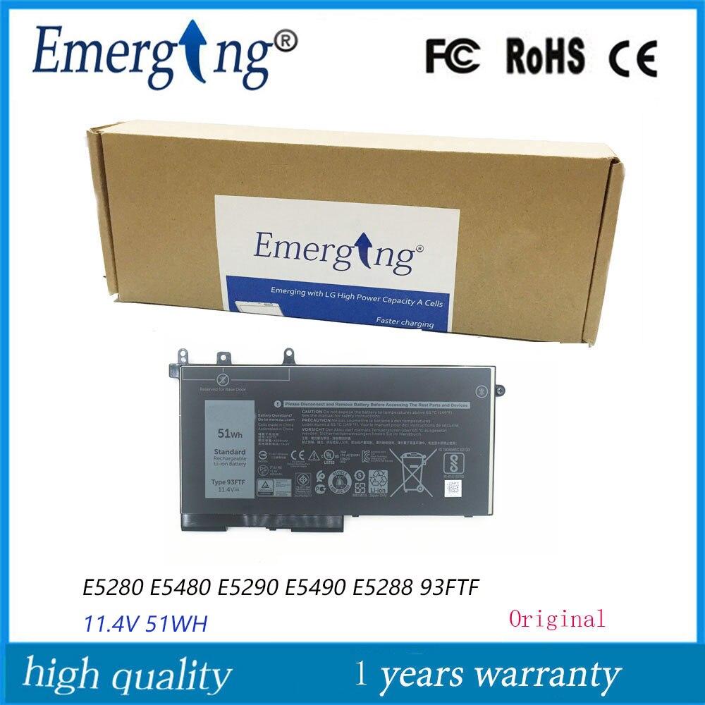 11.4V 51Wh جديد الأصلي بطارية كمبيوتر محمول 93FTF لديل خط العرض E5580 E5480 E5490 E5488 E5280 E5288 E5290 الدقة M3520 3530