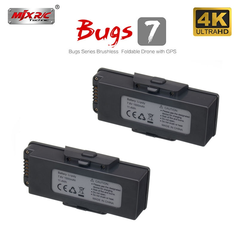 Batería Original para Drone MJX B7 7,6 V 1500mAh, batería para MJX bugs B7 drone 7,6 V 1500mAh