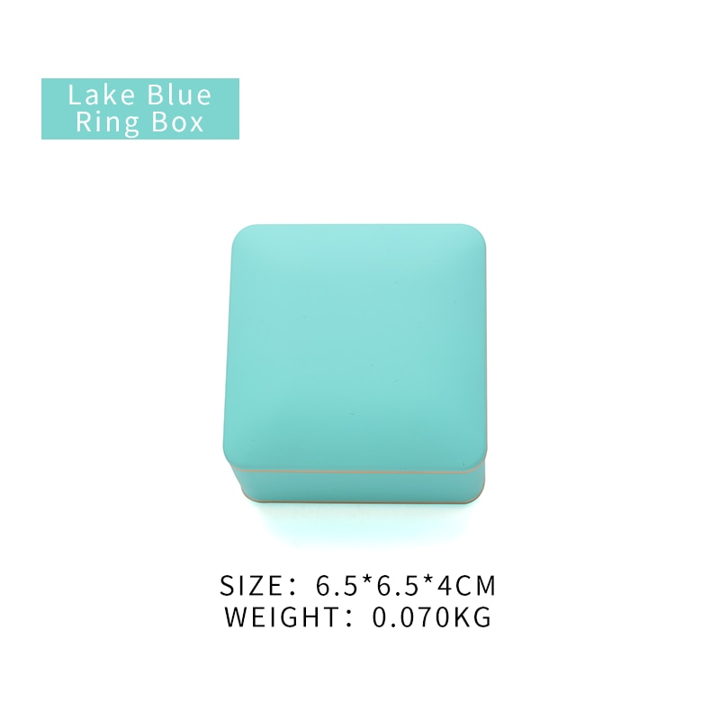 Anel de Casamento Caixa de Armazenamento para Brinco Jóias para o Amante Lago Azul Feminino Jóias Embalagem Titular Pendente Aniversário Presentes Led