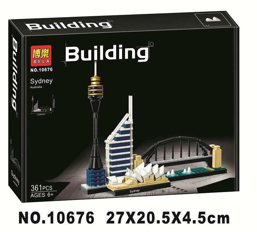 10676 Compatible con arquitectura Sydney Skyline kits de bloques de construcción City Bricks Sets modelo clásico niños Montessori juguetes clásicos