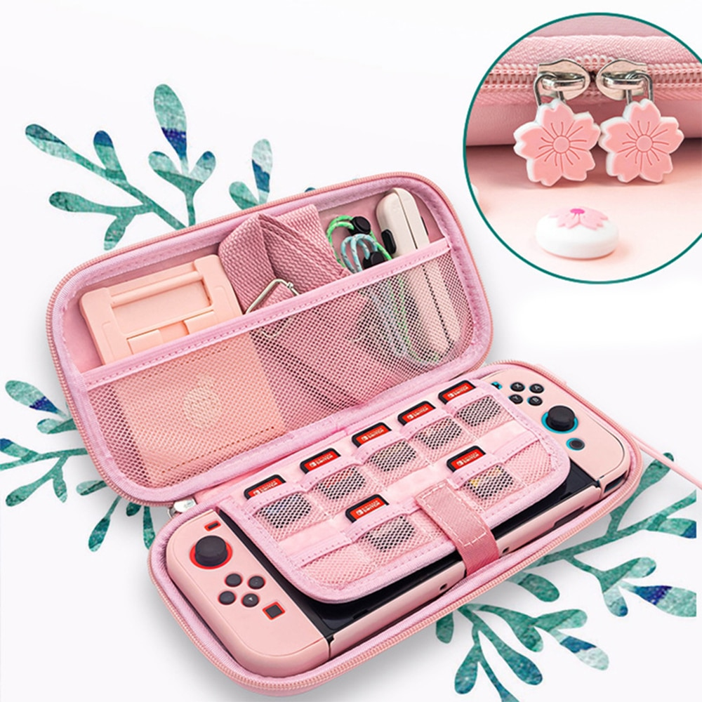 2021 Sakura Portable Storage Bag for Switch Travel Carrying Cherry blossoms Case for Nintendo Switch / Switch lite game Accessor