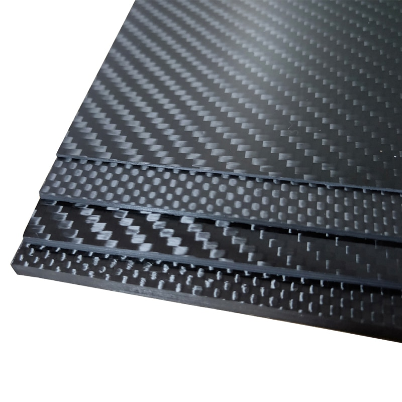 245x395mm Full 3K Carbon fiber Plate sheet High strength Carbon Board panel thickness 0.5mm 1.0mm 1.5mm 2mm 2.5mm 3mm 4mm 5mm enlarge