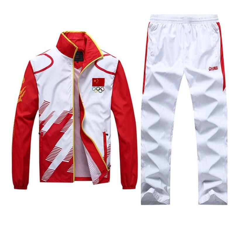 Treino da juventude 2019 ternos do esporte dos homens adolescente escola faixas ternos jogging conjunto olímpico masculino correndo ternos de suor treino treinamento
