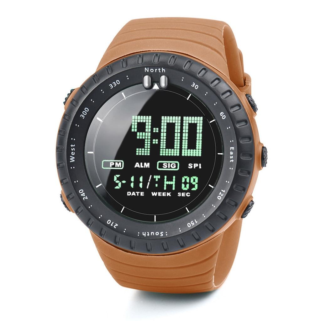 Мужские спортивные часы 2020, роскошные брендовые аналоговые цифровые светодиодные часы, мужские электронные часы, мужские военные спортивные наручные часы, часы Цифровые часы      АлиЭкспресс