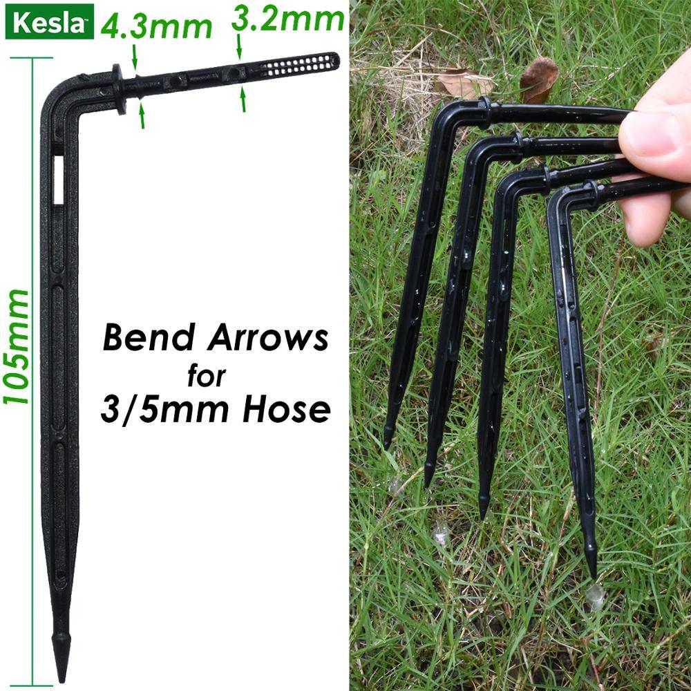 50pcs bend arrow dripper micro drip irrigation kit emitter untuk 3 / - Peralatan berkebun - Foto 2