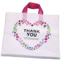 high density polythylene eco friendly casamento packing bags with heart 10pcslot 2935cm thank you plastic bags with handles