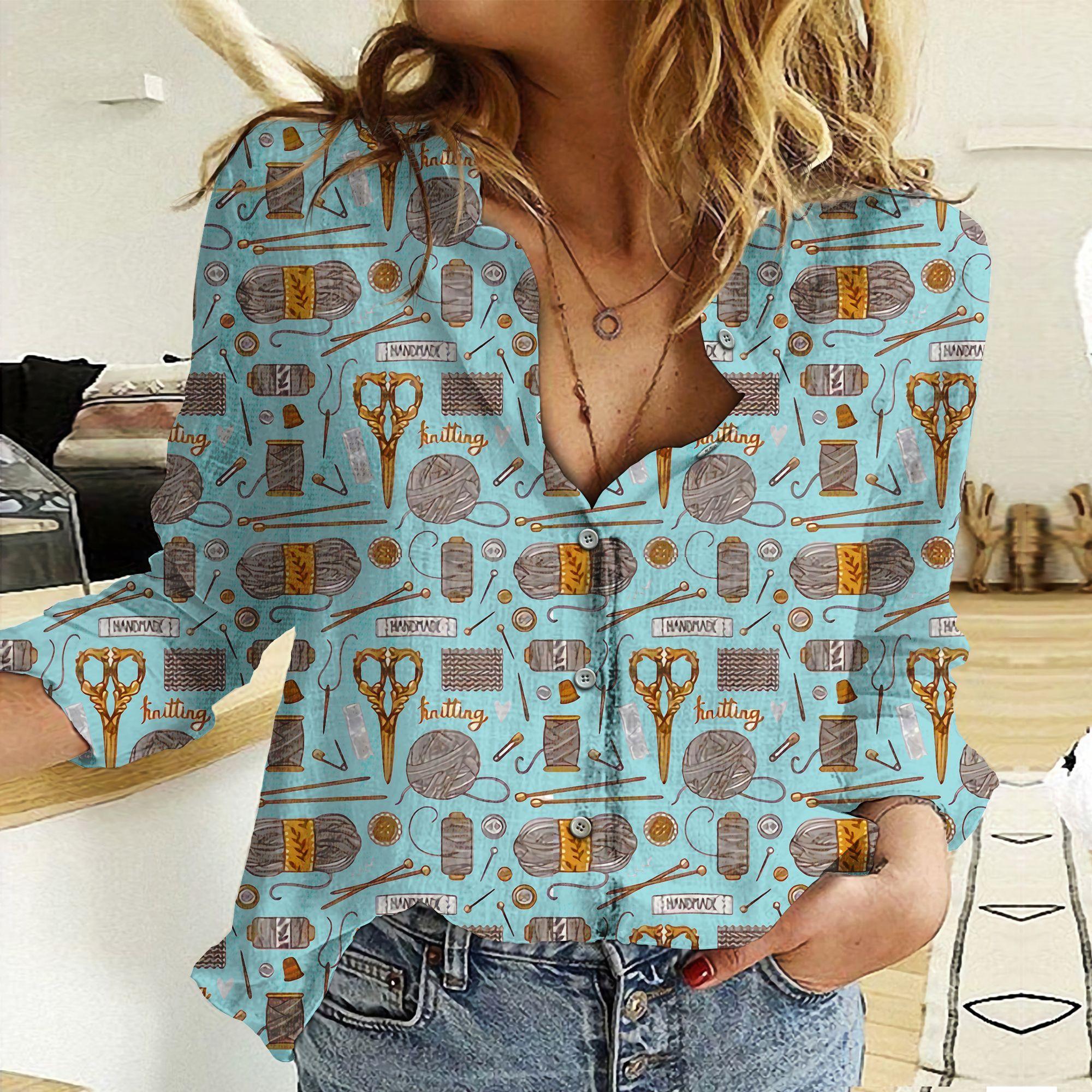قميص نسائي بأكمام طويلة من الشيفون والصوف ، قميص مثير على شكل حرف V مع طباعة رقمية ثلاثية الأبعاد ، 2021