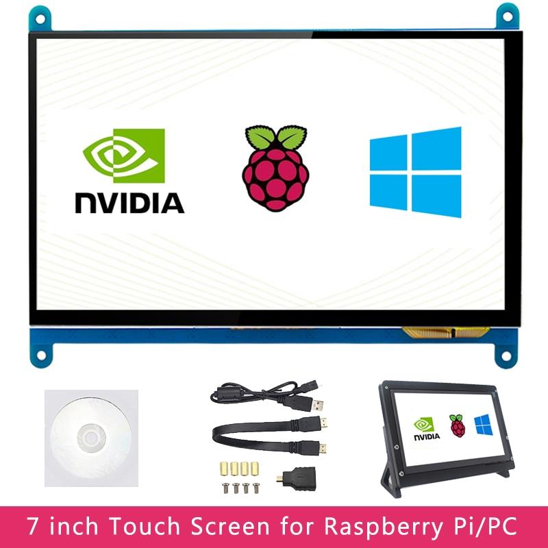 7 بوصة التوت بي 4 نموذج B 3B شاشة إل سي دي باللمس شاشة 1024x600 800x480 تفت اختياري حامل ل نفيديا جيتسون نانو قطعة