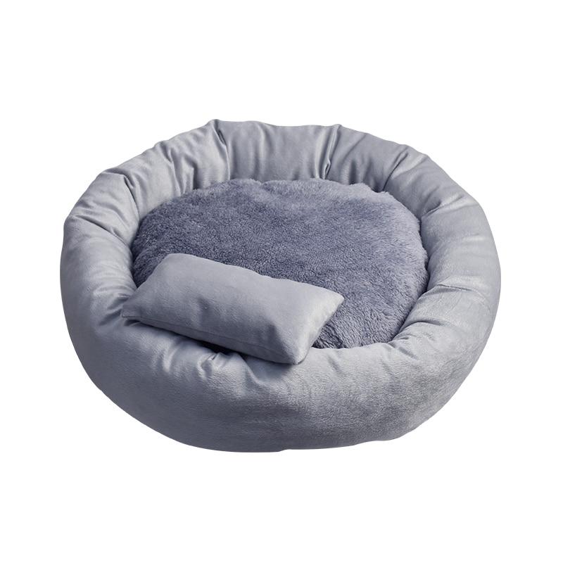 Mullido radiador redondo cama para mascotas gato perro invierno cálido casa para dormir alfombrillas para camada gato moqueta Legowisko Dla Kota productos para mascotas JJ60MW