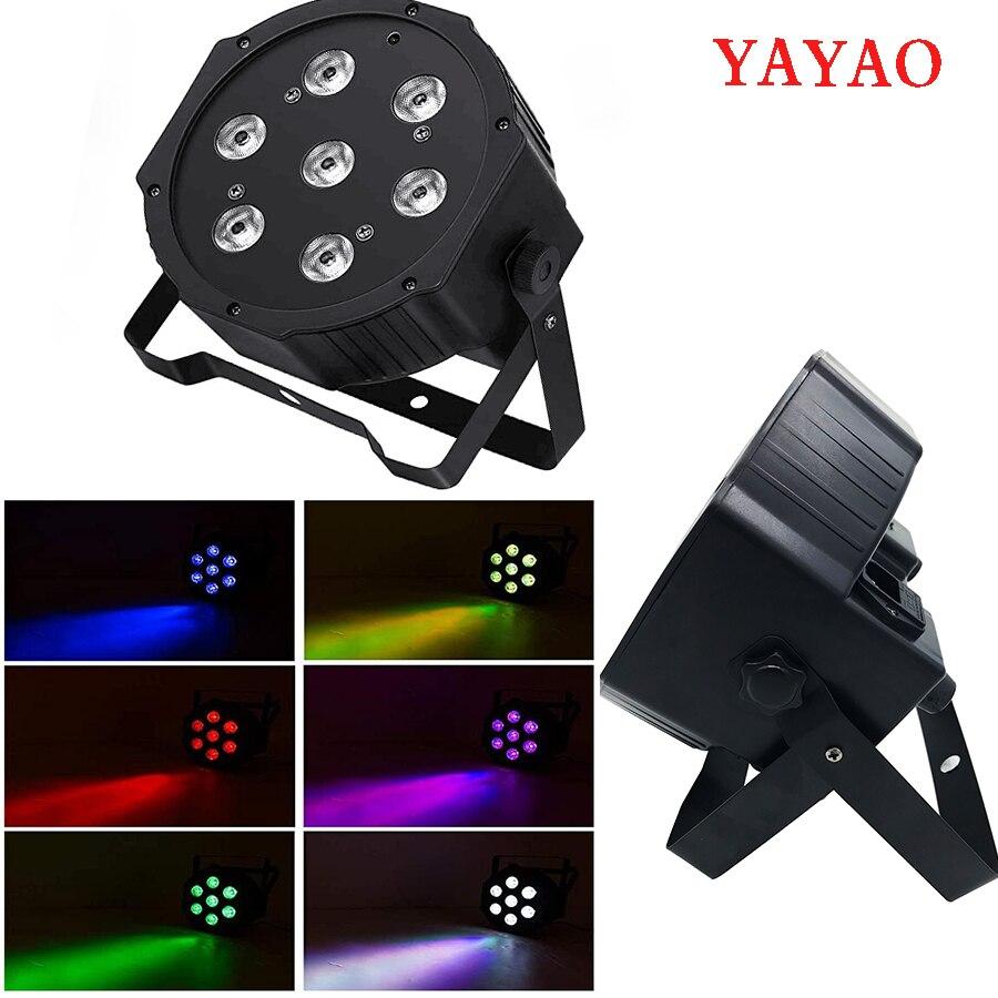 Iluminación profesional YaYaO RGBWA + UV 6 en 1, adecuada para discoteca música de DJ KTV Party Club LED Par 7x12w efecto de escenario