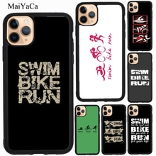 MaiYaCa Nager Vélo Courir Triathlon TPU Pour iPhone XR X XS Max 5S SE 2020 6S 7 8 Plus 11 Pro Max Housse Coque