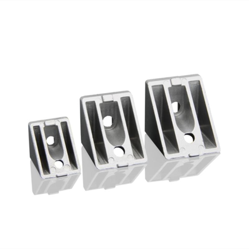 Acessórios de perfil de alumínio industrial de 5 pces-conectores de perfil de alumínio chanfrado de 45 graus-código de canto-encaixes de canto