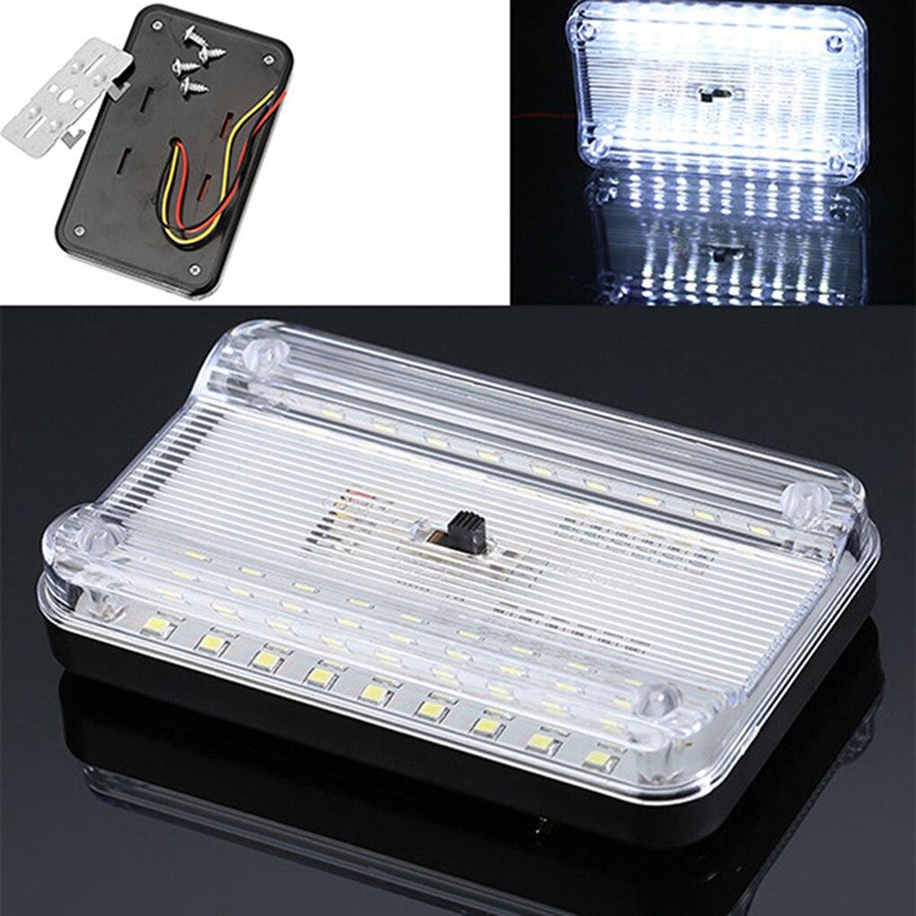 12V 36 LED Auto coche luz para el techo Interior Rectangular blanco Lámpara de lectura accesorios de coche