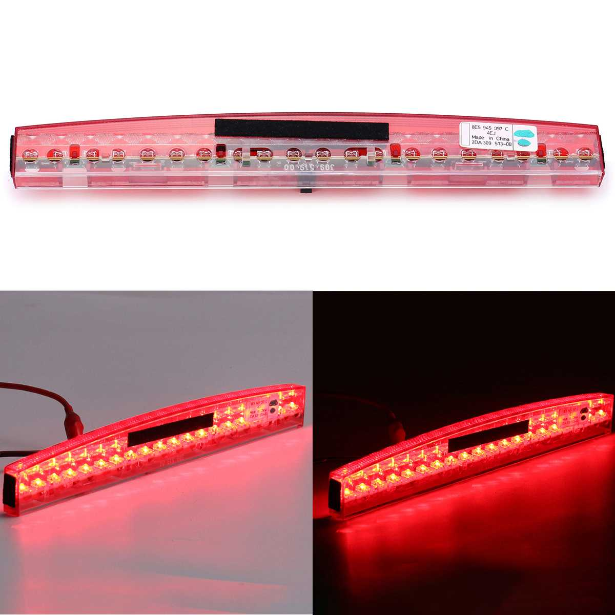 Duradera Luz de montaje alto para coche tercera luz de freno Led roja luz de freno trasera central de plástico para AUDI A4 RS4 S4 B6 B7 2002-2008