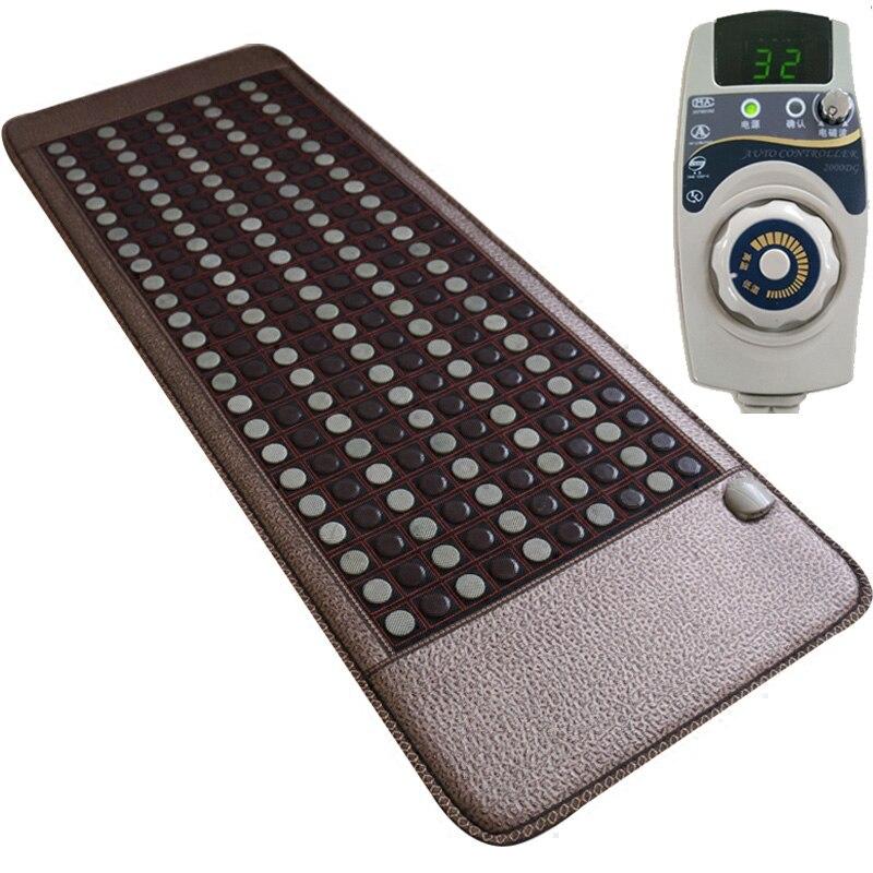 مرتبة تدليك كهربائية من حجر الجرمانيوم مع اليشم الطبيعي ، مرتبة سرير من حجر التورمالين ، وسادة أريكة ، حصيرة تدفئة بالأشعة تحت الحمراء