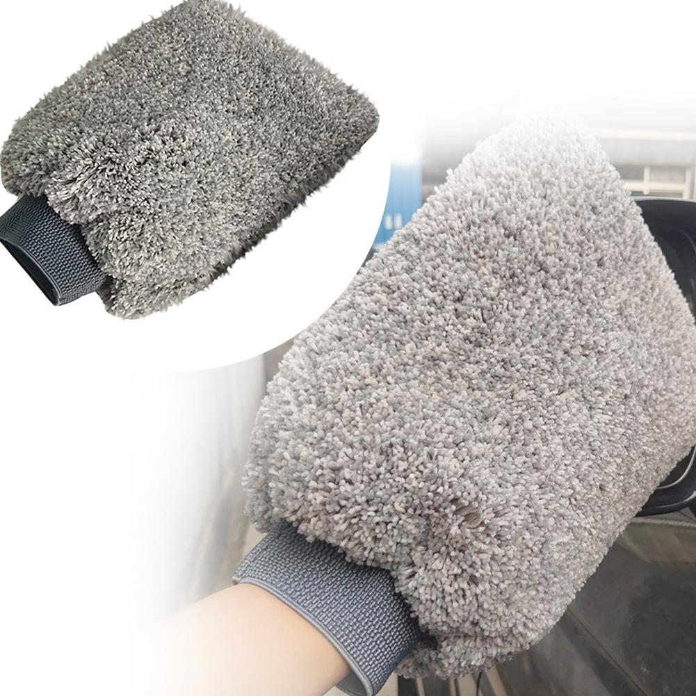 Car Towel 1Pc Double-sided Water Resistant Dust Removal Car Glove Washing Cleaning Tool Car Wash Maintenance Soft Material