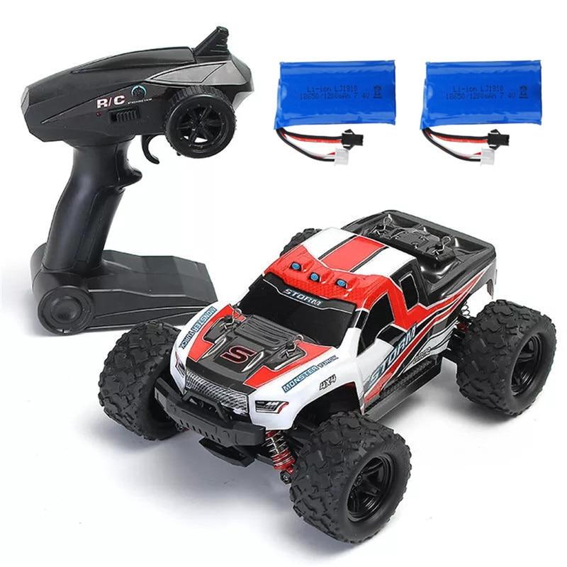Gran oferta, coche RC HS 18301/18302 1/18 2,4G 4WD, vehículo de Control de alta velocidad, coche de carreras todoterreno, coches de juguete RTR
