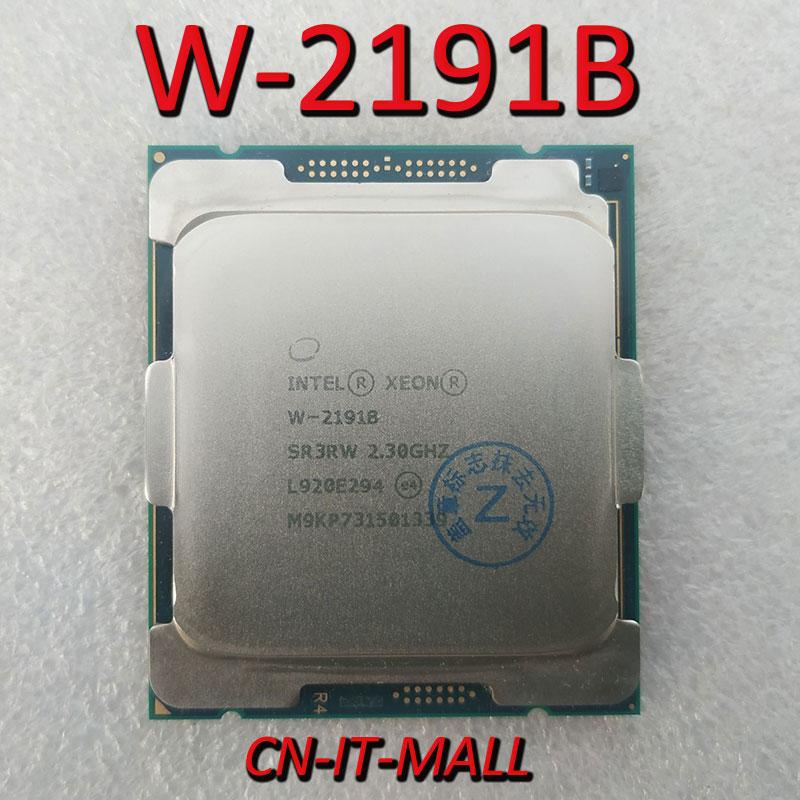 Xeon W-2191B  W2191B  CPU 2.3GHz 24.75M 18 Core 36 Threads LGA2066 Processor