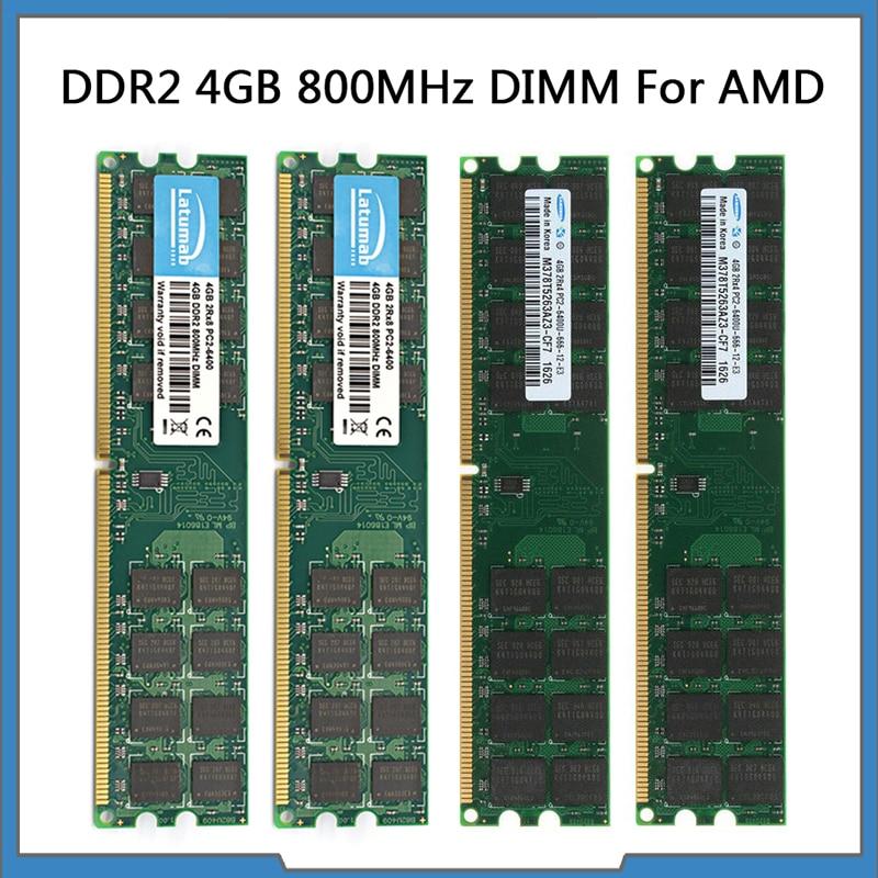 Memoria RAM DDR2 para ordenador de escritorio, conjunto de chips de CPU...