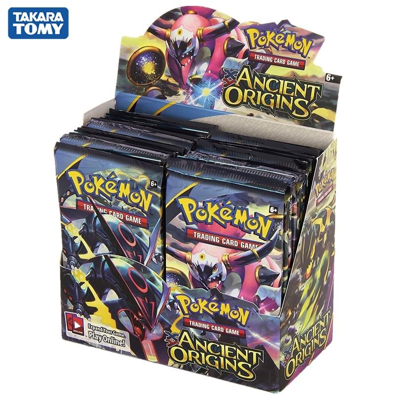 324 unids/caja Pokemon juego de cartas de comercio XY antiguo Origins repetidor con pantalla caja con EX tarjetas juguetes para niños