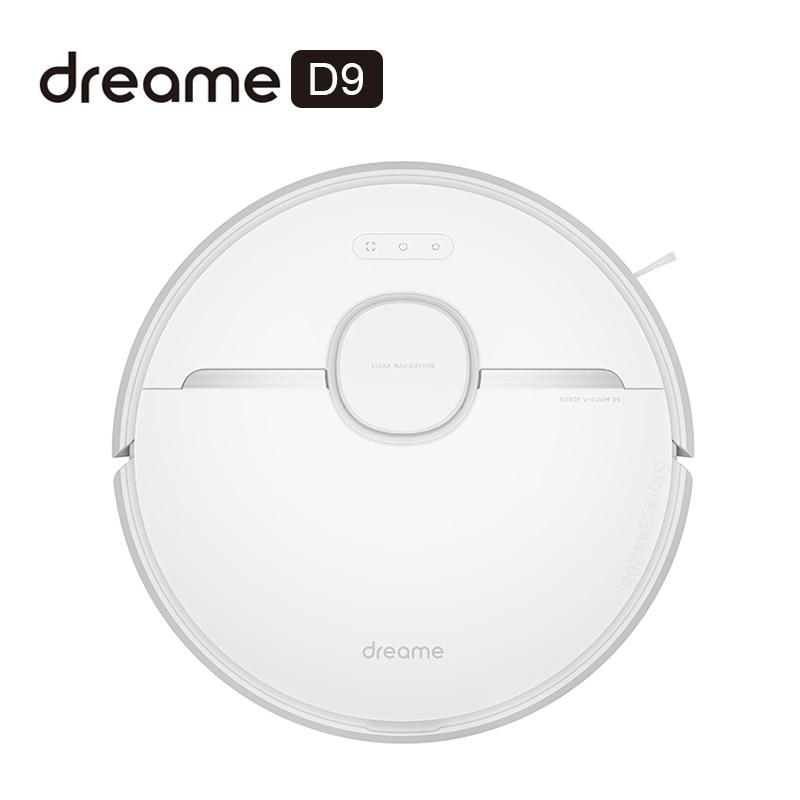 Novo dreame d9 robô aspirador de pó para casa varrendo lavar esfregar 3000pa ciclone sucção poeira mijia app wi fi inteligente planejado