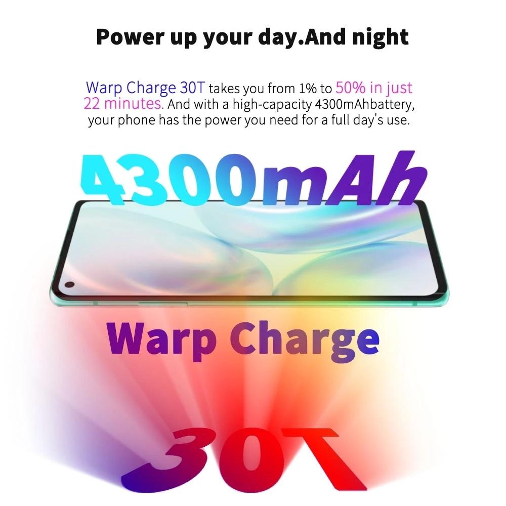 Фото3 - OnePlus 8 5G смартфоны с Snapdragon 865 8ГБ 12ГБ ОЗУ 6,55 дюймовым AMOLED экраном и 90 Гц Сверхвысокой частотой обновления телефоны с 48Мп Тройной камерой и бата...