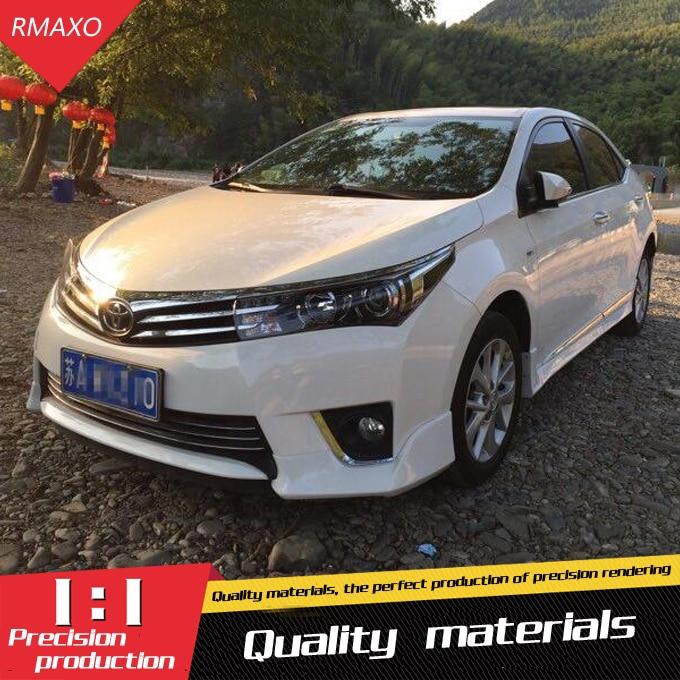 For 15 Corolla Rear spoiler ABS Rear Bumper Diffuser Bumpers Protector  For 14 Corolla Body kit bumper rear lip rear spoiler