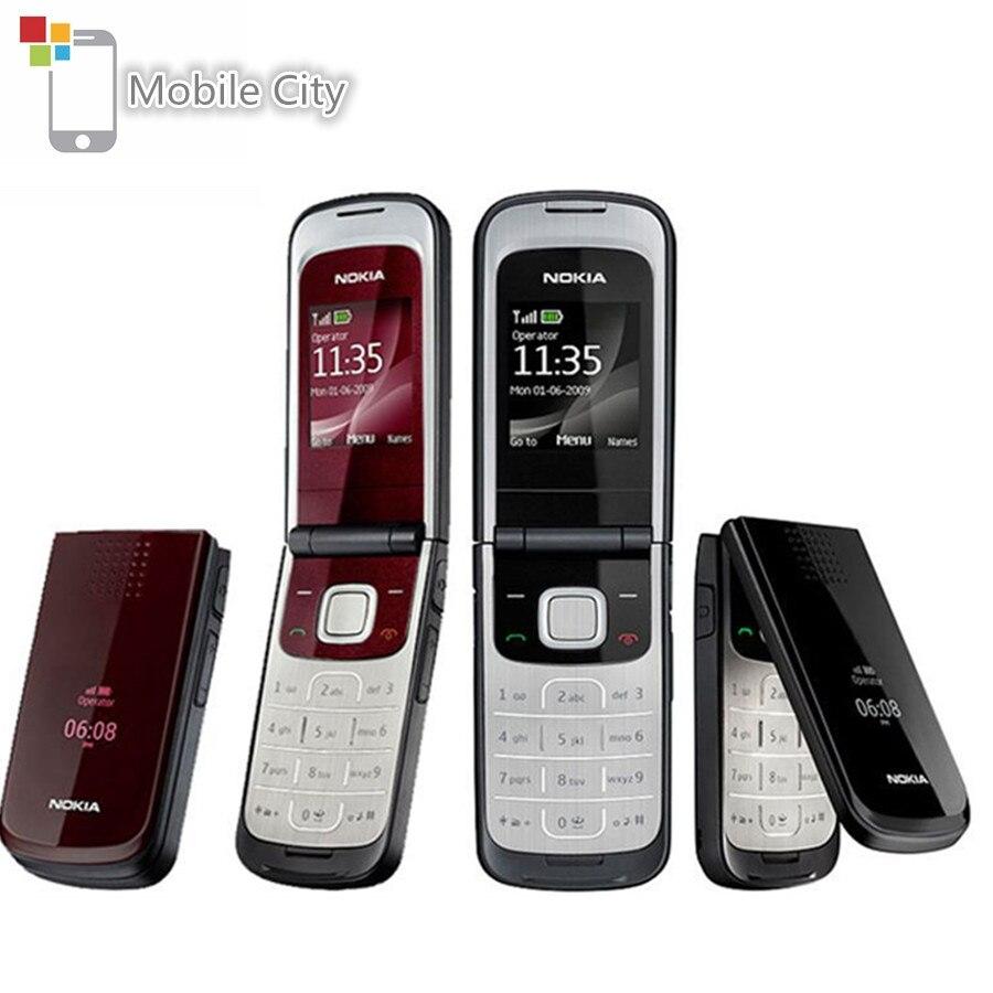 Перейти на Алиэкспресс и купить Перепрошитый Nokia 2720 Fold отремонтированный мобильный телефон 2G Поддержка русский и арабская клавиатура использовать мобильный телефон