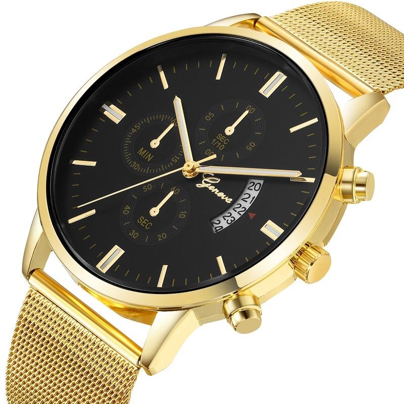 GENEVA Simple Luxury Watch Men Casual Business Quartz Wrist Mens Watches Male Clock Relogio Feminino reloj hombre