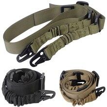 Tactique 2 points pistolet fronde bandoulière en plein air fusil fronde avec QD métal boucle fusil de chasse ceinture chasse pistolet accessoires