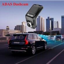 U3 Full HD 1080P Min kamera samochodowa ADAS Auto cyfrowy rejestrator wideo kamera na deskę rozdzielczą dla Android odtwarzacz multimedialny czujnik G rejestratory samochodowe