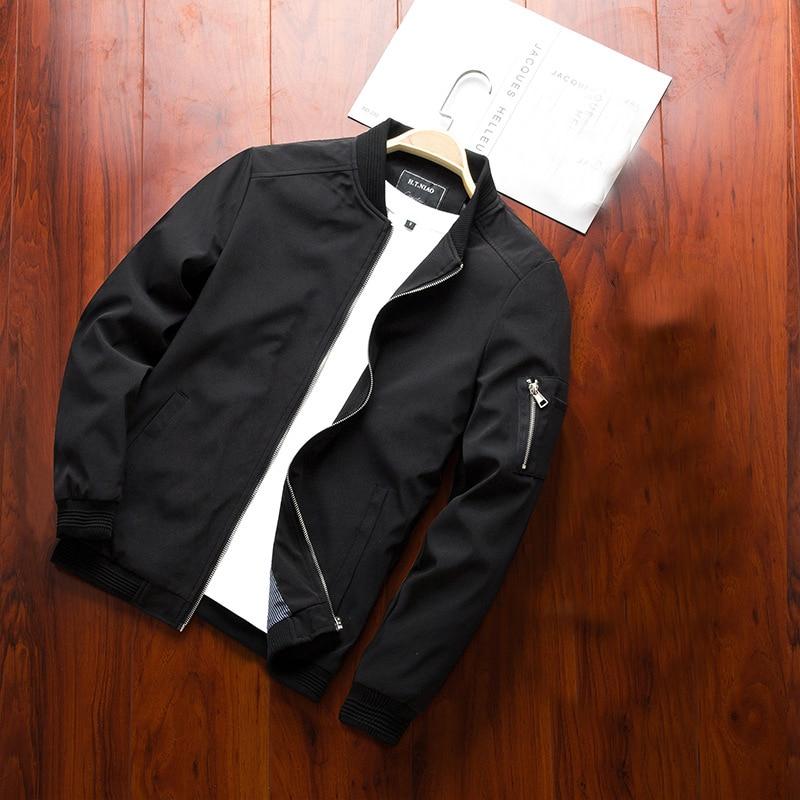Новинка 2021, куртка, мужские весенние и осенние повседневные куртки, куртка-бомбер, приталенная модная верхняя одежда, мужская брендовая оде...