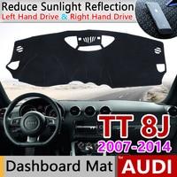 for Audi TT 8J 2007~2014 MK2 Anti-Slip Mat Dashboard Cover Pad Sunshade Dashmat Carpet Accessories S-line 2008 2009 2010 TTS Rug