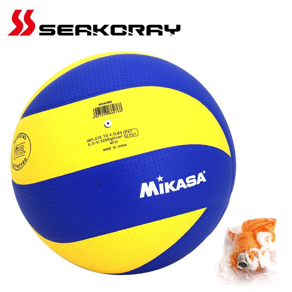 Мячи для волейбола MVA200W/V330W, мягкий касаться волейбол полиуретан, размер 5, официальный матч, для игр в помещении, тренировочный мяч