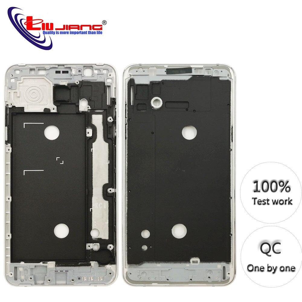 Carcasa de marco frontal Original para Samsung J7 2016 J710F J7108 LCD Panel bisel de Marco medio carcasa y botones + adhesivo
