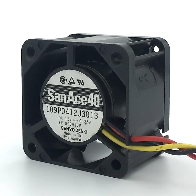 Вентилятор для сервера San Ace 40, 4 см, 4028, 40*40*28 мм, 12 В, 0.35A, с 3 контактами
