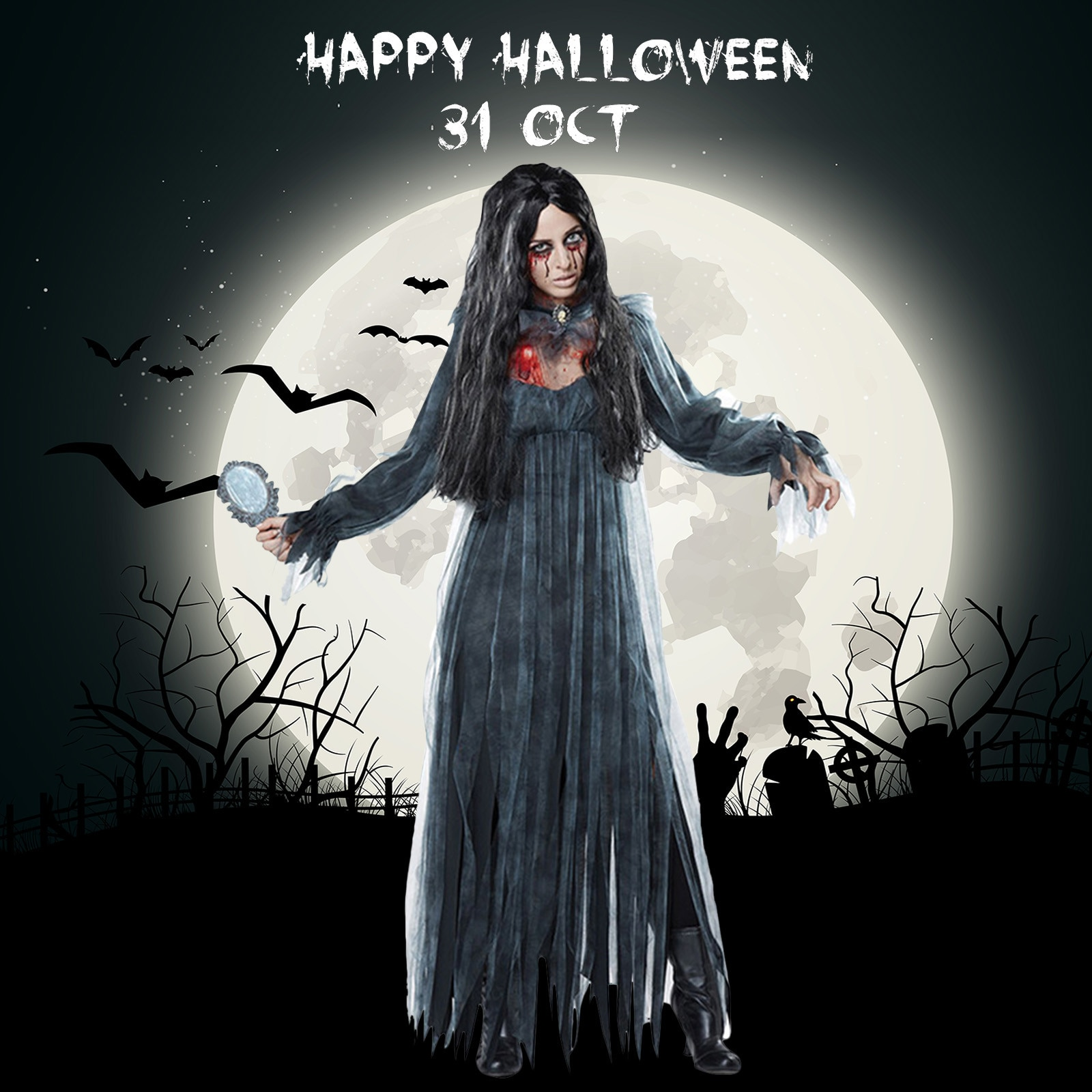 halloween children s costume cosplay girl horror vampire death ghost clothes little witch long sleeve costume girls prom dress Gothic ladies sexy dress acting cloak witch ghost death costume women's halloween party holiday costume cosplay cloak dress