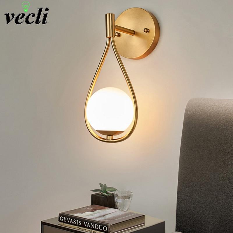 luminaria de parede em led minimalista estilo nordico luzes vintage de parede para
