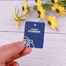 Cute 3.5*4.5cm 100pcs/lot Rose Flower Print Stud Earrings Card Jewelry Display Packing Cards Hanger Tags Can Custom Logo