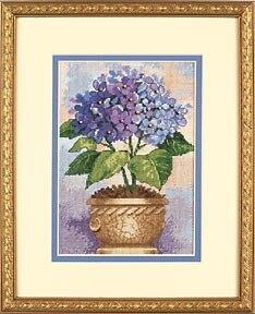 Хлопковый Набор для вышивки крестом, Гортензия в цвету, цветы, тусклые 06959 6959