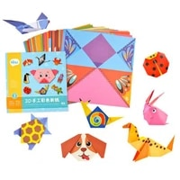 54 Pages Montessori Toys DIY Kids Craft Toy 3D Cartoon Origami Handcraft Paper Art Learning Educational Toys For Children