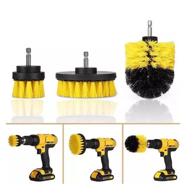 Щетка из полипропилена для чистки туалета, инструмент для чистки коврика, электродрели, 3 шт./компл.