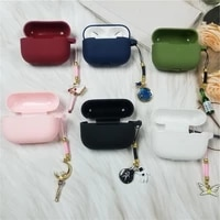 silicone case for airpods pro bluetooth earphone case box for airpods 3 soft cover with luxury charms
