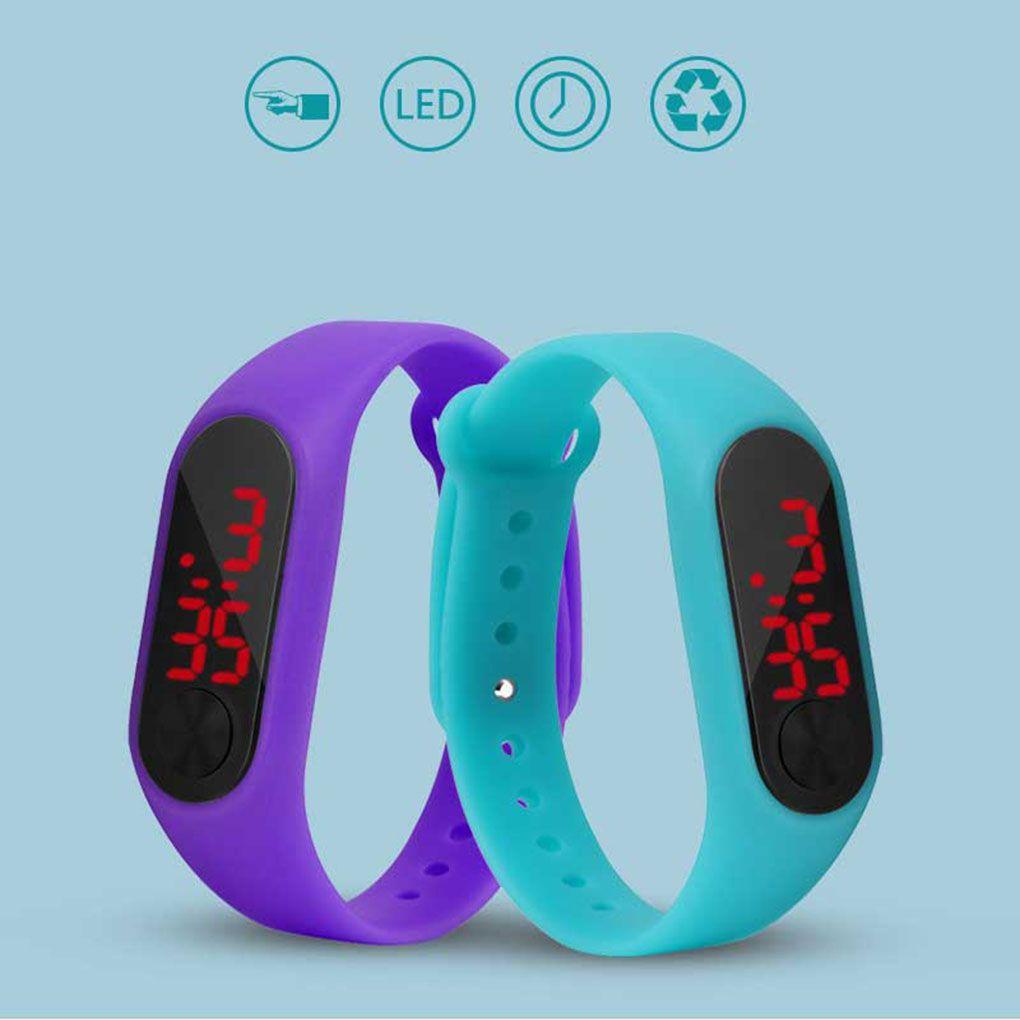 LED Screen Display Children Thin Digital Wrist Watch Student Fitness Wristband Boy Girl Sports Suppl