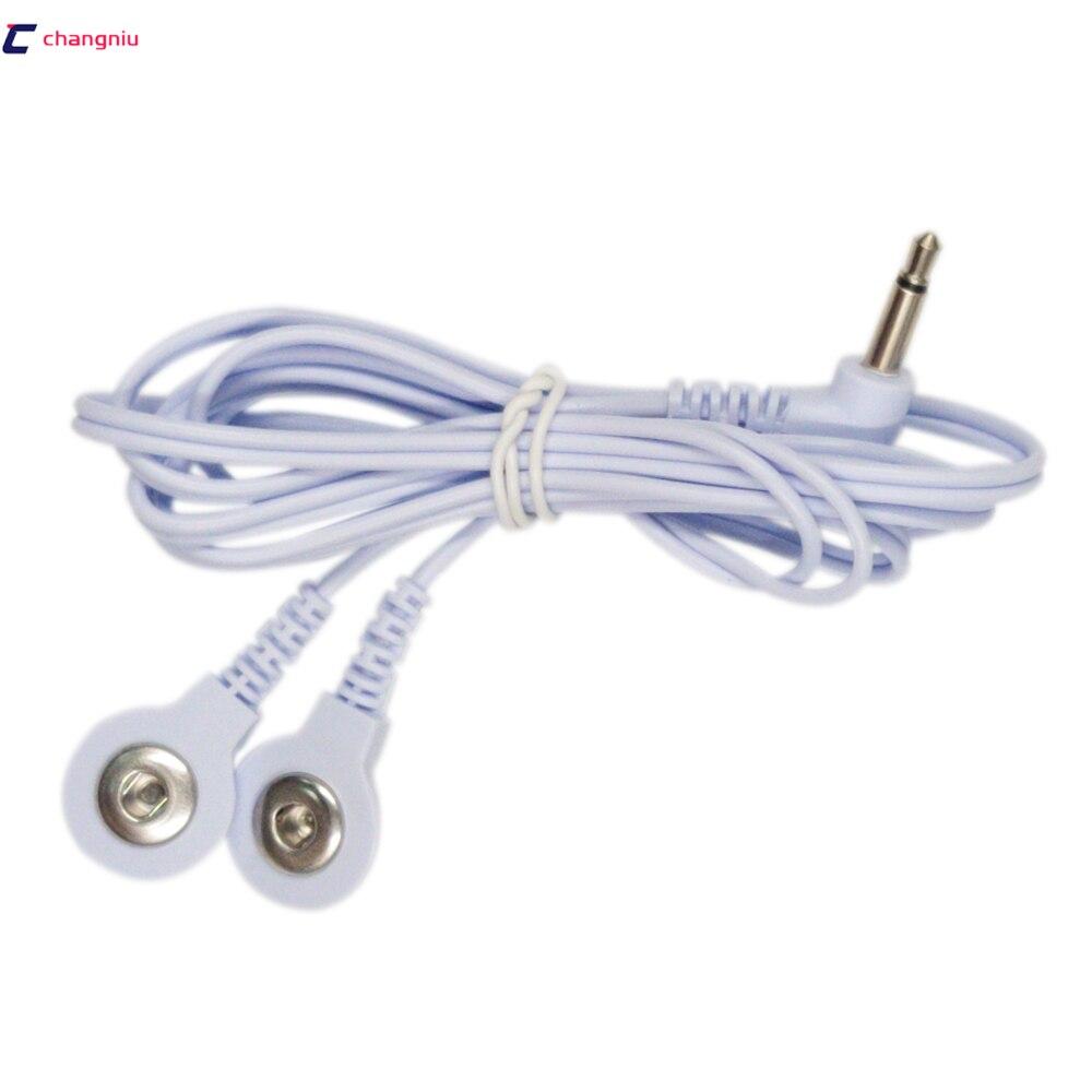 Envío gratuito 5 unids/lote 2 en 1 DC cabeza 3,5mm Electrodo de...
