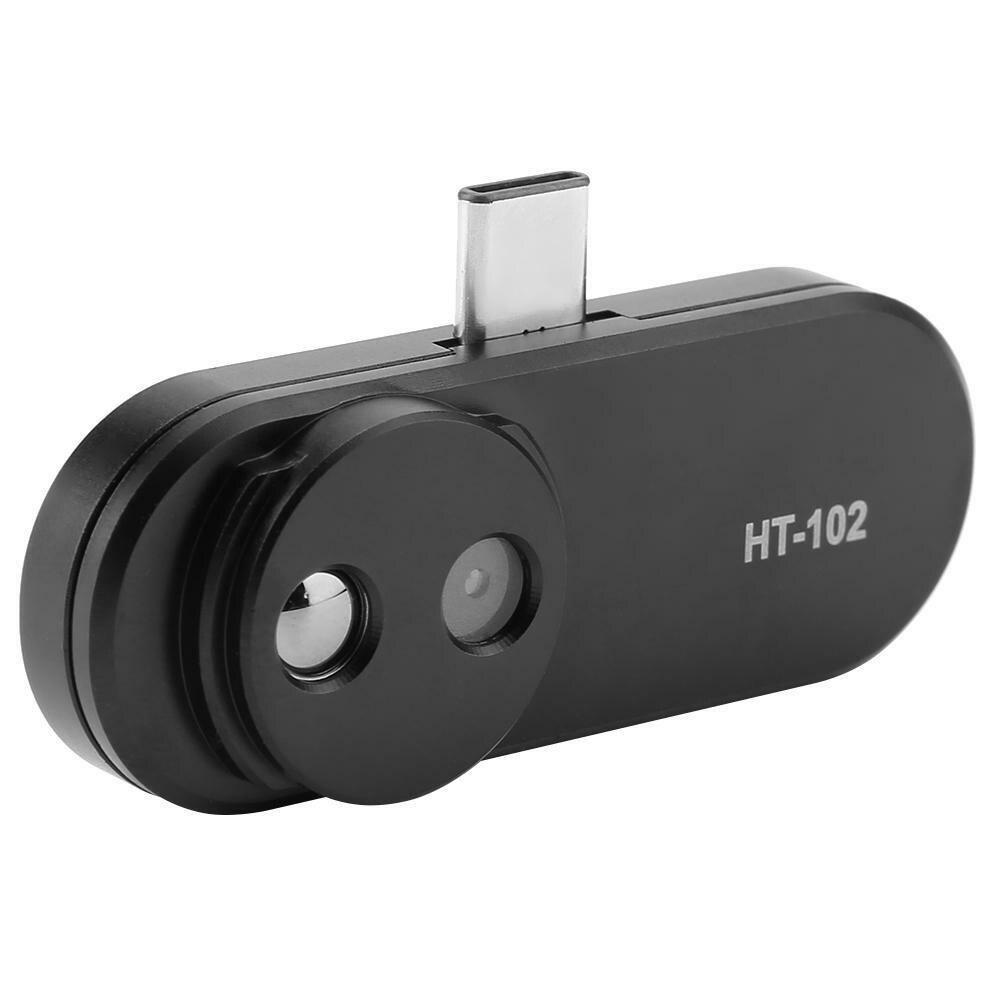 HT-102 термометр многофункциональный прибор для измерения ручной обнаружения Мобильный телефон инфракрасный черные высокие Термальность Imager для Android