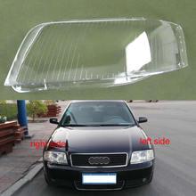 Передние фары, стеклянная зеркальная крышка, прозрачные абажуры, корпус лампы, маски, линзы для Audi A6 C5 2003 2004 2005