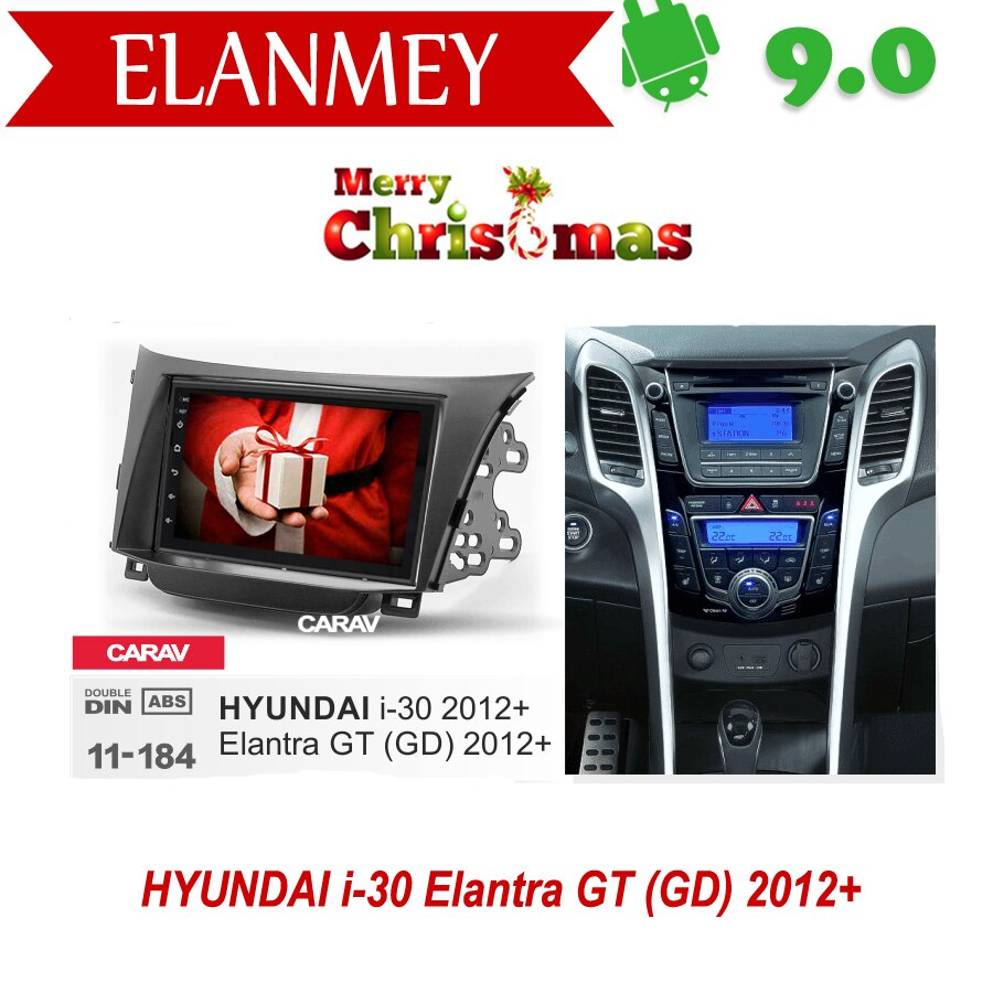 Branded Echte Android 9,0 Auto Radio für HYUNDAI I30 i-30 Elantra GT 2012 auto gps navigation Auto Multimedia Fahrzeug recorder