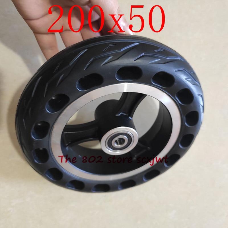 Lightning livraison 200x50 roue solide   Pneus de bicyclette électrique antidéflagrant, pneus de moto de 8 pouces, pneus solides, trous de ruche abeille