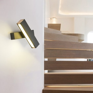 Nordic LED Wall Lamp For Bedroom Modern Rotatable Sconce Wall Lights  Home Indoor Light Fixture For Corridor